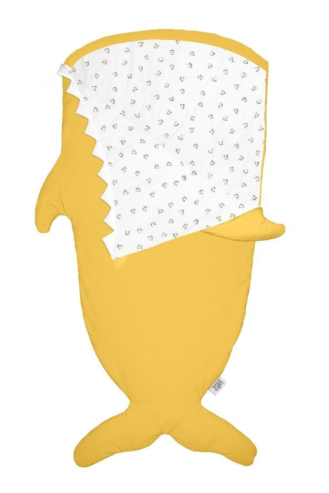 Baby Bites Śpiworek light Shark (2-6 lat) Mustard Yellow